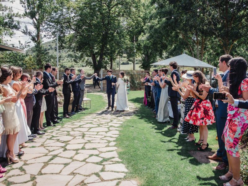 Adriana y Jesús, una boda sobre ruedas
